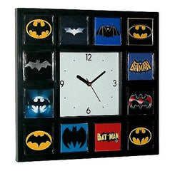 Best History of Batman Clock Bat Signal Movie TV Comics with 12 classic logos , Comic Book Heroes - n/a, Final Score Products
