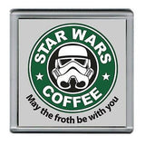 Star Wars Stormtrooper Parody Starbucks Coffee mug Coaster 4 X 4 inches , Stormtroopers - n/a, Final Score Products