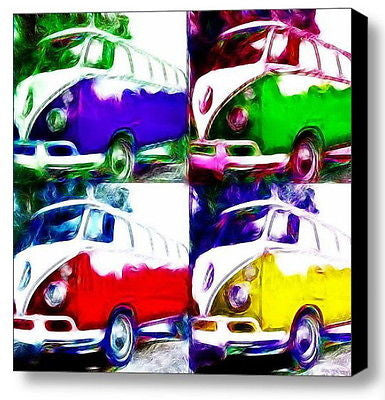 Framed VW Bus Van Volkswagen 8X8 inch Limited Edition Art Print w/COA , Prints - n/a, Final Score Products