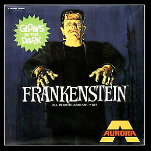 Glow in the Dark Aurora Frankenstein Model Kit 2.5 inch fridge magnet , Monster - Aurora, Final Score Products