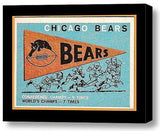 Framed Chicago Bears retro 1959 Fleer Pennant 9X11 in Print Man Cave Game Room , Football-NFL - n/a, Final Score Products