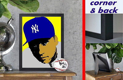 New York Yankees Derek Jeter Canvas Premium Framed Print LIMITED EDITION w/ COA , Prints - n/a, Final Score Products