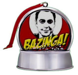 The Big Bang Theeory Sheldon Cooper Bazinga SnowGlobe Magnet Tree Ornament , Other - n/a, Final Score Products