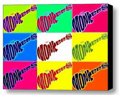 Framed The Monkees Guitar Pop Art 9X11 inch Limited Edition Art Print w/COA , Monkees - n/a, Final Score Products