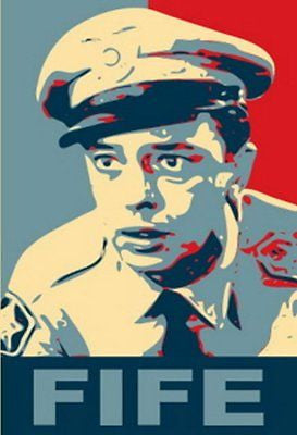 Andy Griffith BARNEY FIFE 19X13 Obama style poster , Other - n/a, Final Score Products