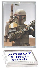 Star Wars Boba Fett Acrylic Executive Display Piece or Desk Top Paperweight , Boba Fett - n/a, Final Score Products