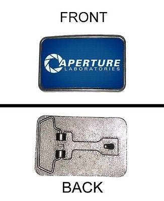 Portal 2 Aperture Laboratories promo metal belt buckle nickle finish , Video Game Memorabilia - n/a, Final Score Products