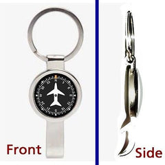 Airplane Airline Pilot Cockpit Gauge Pennant Keychain secret bottle opener , Private Aircraft - n/a, Final Score Products