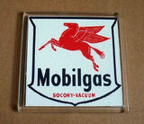 Mobil Oil Mobilgas Coaster 4 X 4 inches , Mobil - Mobil, Final Score Products