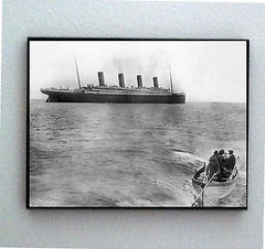 Framed last known picture of RMS Titanic Cruise Ship sailing in 1912 , White Star & Titanic - n/a, Final Score Products