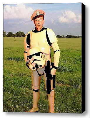 Framed Barney Fife as Star Wars Stormtrooper 9X11 inch Limited Edition Art Print