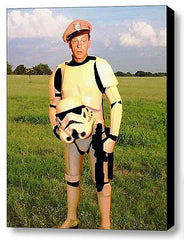 Framed Barney Fife as Star Wars Stormtrooper 9X11 inch Limited Edition Art Print , Stormtroopers - n/a, Final Score Products
