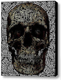 Goth Skull Odd Word Mosaic INCREDIBLE Framed 9X11 inch Limited Edition Art w/COA , Skulls - n/a, Final Score Products