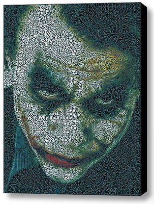 Batman The Dark Knight Joker Word Mosaic Framed 9X11 Limited Edition Art w/COA , Other - n/a, Final Score Products