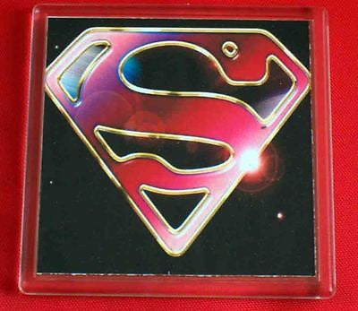Superman Space S Chest Emblem Coaster 4 X 4 inches