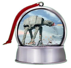 NEW Star Wars Battle Of Hoth At-At SnowGlobe Magnet Holiday Tree Ornament , Vehicles - n/a, Final Score Products