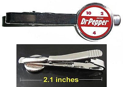 Doctor Dr. Pepper retro 10 4 2 ad Tie Clip Clasp Bar Slide Silver Metal Shiny , Dr Pepper - n/a, Final Score Products