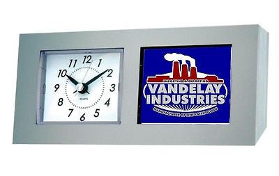 Seinfeld George Castanza Vandelay Industries Desk Table Clock