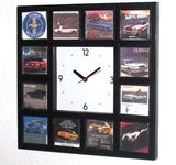 History of classic Ford Mustang Ads Garage Man Cave Clock with 12 pictures , Ford - n/a, Final Score Products