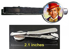 Willy Wonka Gene Wilder Chocolate Factory Tie Clip Clasp Bar Slide Silver Metal , Jewelry - n/a, Final Score Products
