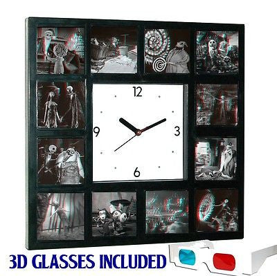 incredible the nightmare before christmas 3d clock sally jack with glasses
