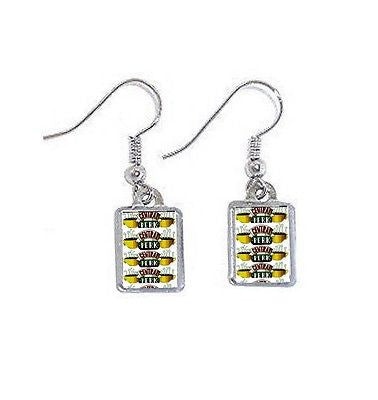 Friends TV Show Central Perk Earrings pierced ear ring set , Jewelry - n/a, Final Score Products