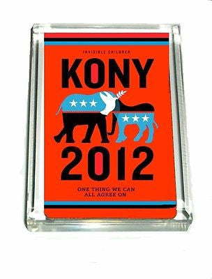 few left KONY 2012 Invisible Children Acrylic Executive Desk Top Paperweight