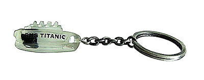 Titanic Ship real actual Coal Raised relic keychain