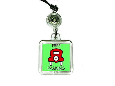 Monopoly Free Parking Cell Phone Blinking Flashing Charm