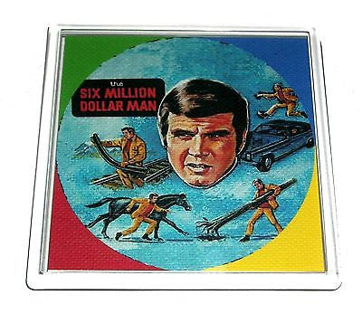 6 Six Million Dollar Man Lunchbox Coaster