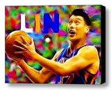 Framed New York Knicks Jeremy Lin 9X12 inch Art Print Limited Edition w/COA , Basketball-NBA - n/a, Final Score Products