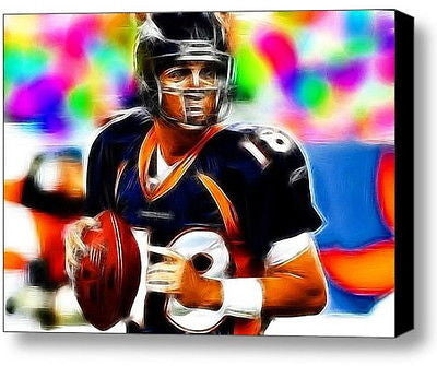 Denver Broncos Peyton Manning Framed 9X11 inch Limited Edition Art Print w/COA , Football-NFL - n/a, Final Score Products