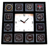 Pilot Airline Airplane Gauges cockpit Panel Black Clock with 12 dial images , Private Aircraft - n/a, Final Score Products
