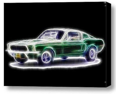 Framed Magical 1968 Ford Mustang 9X11 Steve McQueen Bullitt Limited w/signed COA , Prints - n/a, Final Score Products