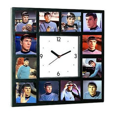 Star Trek faces of Leonard Nimoy Spock logical Clock with 12 pictures , Spock - n/a, Final Score Products