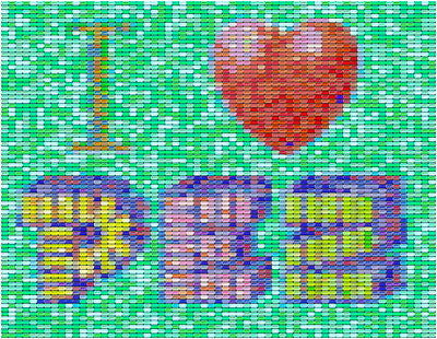 I LOVE PEZ Candy Incredible Mosaic Art Print , Other - n/a, Final Score Products