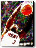 Framed Miami Heat Dwyane Wade Magical 9X11 inch Limited Edition Art Print w/COA , Basketball-NBA - n/a, Final Score Products