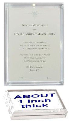 Acrylic Twilight Breaking Dawn Wedding Invitation prop Display Piece Paperweight , Reproductions - n/a, Final Score Products