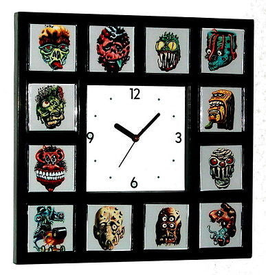 Ugly Stickers Clock with 12 pictures topps in weird