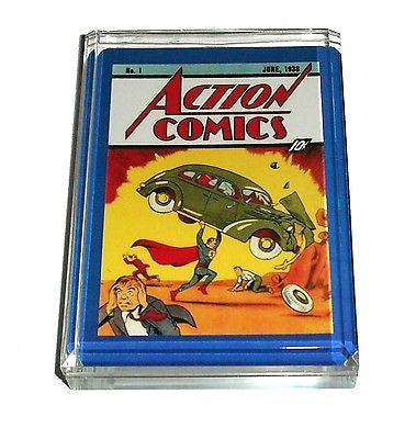 Acrylic Action Comics #1 Superman Desk Top Paperweight