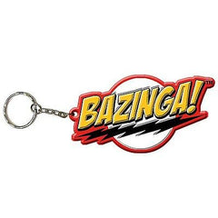 Big Bang Theory Sheldon Cooper Bazinga! 3D Rubber Key Ring Chain , Keyrings - n/a, Final Score Products
