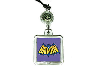 1966 Batman logo Cell Phone Blinking Flashing Charm , Straps & Charms - n/a, Final Score Products