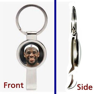 Miami Heat LeBron James Pennant or Keychain silver tone secret bottle opener , Basketball-NBA - n/a, Final Score Products