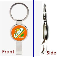 Orange Crush Soda Pop Pendant or Keychain silver tone secret bottle opener , Orange Crush - n/a, Final Score Products