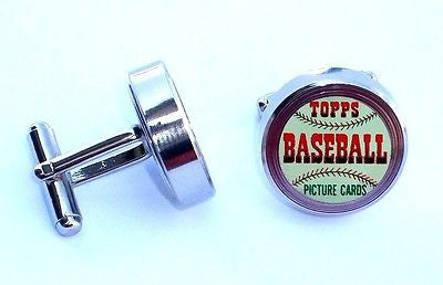 1952 Topps Baseball Wax Pack Cuff Links silver steel wedding Groomsmen Gift