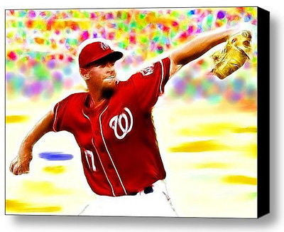 Framed Washington Nationals Stephen Strasburg Magical 9X11 Limited Ed Print , Baseball-MLB - n/a, Final Score Products