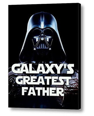 Framed Star Wars Darth Vader Galaxy's Greatest Father Best Dad of the year