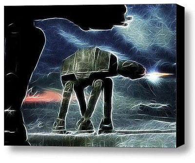 Magical At-At at Night Star Wars Framed 9X11inch Limited Edition Art Print w/COA , Other - n/a, Final Score Products