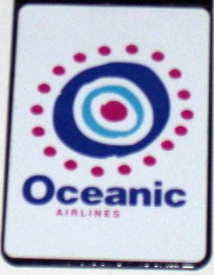 Official ABC LOST TV show Oceanic Airlines Fridge Magnet big 2.5 X 3.5 inches , Reproductions - n/a, Final Score Products