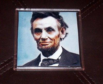 Color Abe Abraham Lincoln Coaster 4 X 4 inches